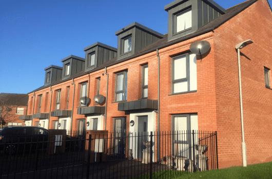 Development of brick townhouses