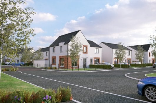 Artists impression of new housing development