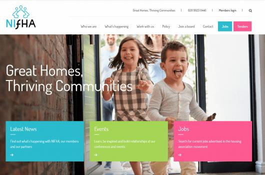 screen shot of nifha.org homepage