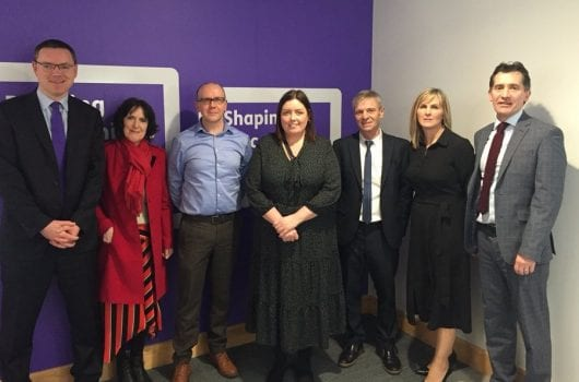 Representatives of CRISPP with Communities Minister Deirdre Hargey